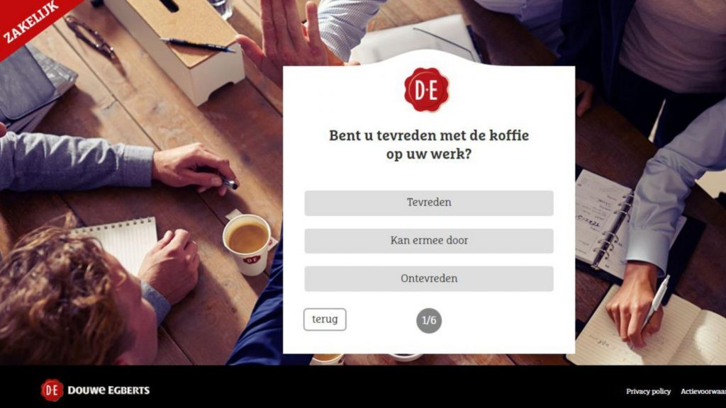 data - douwe egberts